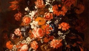 Paolo-Porpora-oil-on-canvas-Flowers